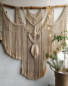 Large Macrame Backdrop, Extra large Macrame Wall Hanging with tassels, Hanging wall decor, Home Decor, Housewarming gift Macrame Wall Hanging Patterns, Weaving Wall Hanging, Large Macrame Wall Hanging, Macrame Patterns, Wall Hangings, Quilt Patterns, Canvas Patterns, Macrame Design, Macrame Art