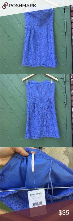 NWT Free People cotton mini dress New! Zero flaws. Back zipper. Sweetheart neckline. Free People Dresses