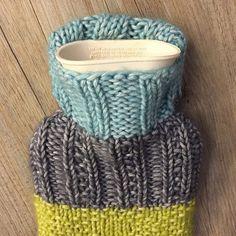Mini hot water bottle cover - free pattern