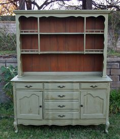 Vintage French China Hutch In Olive Branch By Foo Foo La La