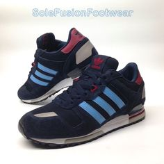 57fbadc9d7f4 adidas Originals Mens ZX 750 Trainers Blue size 8 Running Sneakers US 8.5  EU 42
