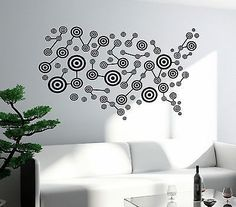 Nautical Map Of North South America W Compass Vinyl Wall Decal - Usa map with compass