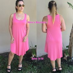 🔻clearance🔻Perfect Tank Dress Summer tank dresses in a candy pink color...price is firm. S(2/4) M(6/8) L(10/12) Dresses Midi