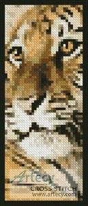 Bengal Tiger Cub Bookmark - cross stitch pattern designed by Tereena Clarke. Category: Bookmarks.