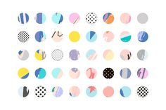 Happy Circles by Lera Efremova on @creativemarket