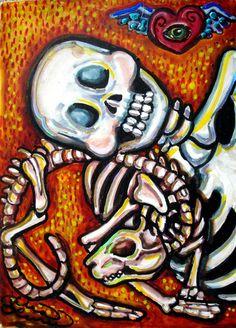 Lisa Luree Art Including Bonediva ACEO's, Dia De los Muertos(Day of the Dead), surreal artwork.