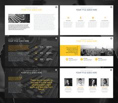 THE PROJECT - Keynote Template by Slidehack on Creative Market
