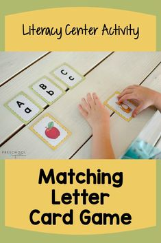 This printable alphabet card game comes with a set of larger alphabet posters. It's perfect for use in a literacy center or small groups! Preschoolers and kindergarteners will both love matching the object cards with the printed letters. Alphabet Wall Cards, Alphabet Posters, Printable Alphabet, Literacy Skills, Early Literacy, Literacy Centers, Alphabet Activities, Preschool Activities, Preschool Alphabet