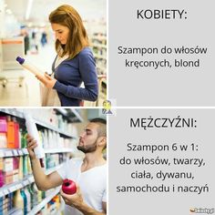 #smiechy #smiechy.pl #śmieszne #memy #humor  #funny #lol #fun #kobiety #mężczyźni #szampon Haha Funny, Lol, Funny Memes, Hilarious, Polish Memes, Blonde Jokes, Im Depressed, Everything And Nothing, College Humor