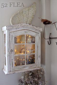 52 FLEA: Paula's Christmas Cottage 2014. I love the look with the lights, Caron
