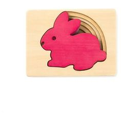 Bunny Layered Wood Puzzle,