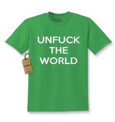 Unfuck The World Kids T-shirt
