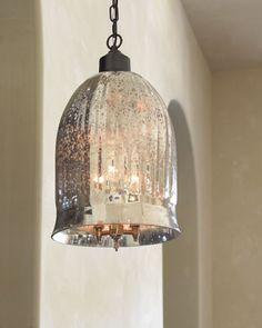 antique mirror bell pendant lantern pinterest pendants mercury