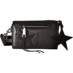 Marc Jacobs Star Patchwork Crossbody (Black Multi) Cross Body Handbags (13.295 RUB) ❤ liked on Polyvore featuring bags, handbags, shoulder bags, black, leather cross body purse, leather handbags, marc jacobs crossbody, leather crossbody and leather hand bags