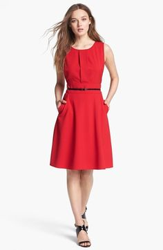 2dd0b4e0aeb Calvin Klein Fit  amp  Flare Dress Little Red Dress