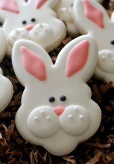 Happy Easter Bunny Cookie