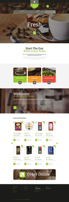 Shopify Template , Coffee Store