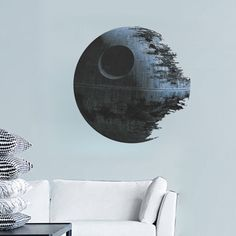 Movies Star Wars Death Star Vinyl Art Wall Stickers Kids Room Wall Decal Home Decor Removable Wall Sticker fans Decoration Bedroom Stickers, Nursery Decals, Kids Wall Decals, Vinyl Wall Art, Sticker Mural, Artwork Wall, Nursery Boy, Vinyl Decals, Wall Stickers Stars