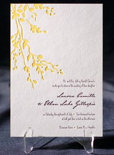 the robson wedding invitation is part of Smocks letterpress & foil collection. free shipping, free