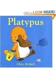 Platypus by Chris Riddell - lovely gentle humour in a book that can be used in a Crab theme. Image found on a Google images search.
