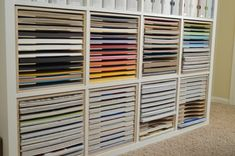 Paper Craft Storage in IKEA Shelving - Stamp-n-Storage