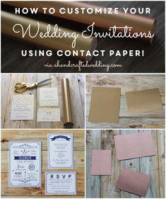How to add Gold to #DIY Wedding #Invitations | ahandcraftedwedding.com #wedding #contactpaper