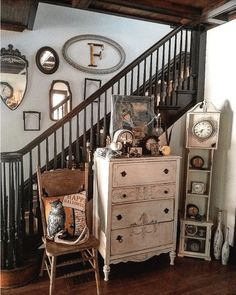 Shabby Chic Dresser decorated for Halloween