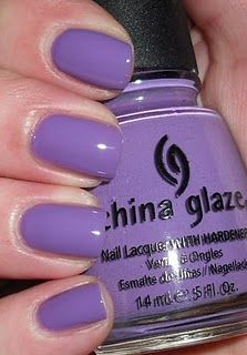"""Just got my nails done: China Glaze """"Spontaneous,"""" short and squoval..."""