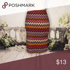 "🔵 S&G Sac, See, And Girl Skirt Super cute, Boho print skirt with side slits. Waist: 26"". Length: 22"". 96% polyester/4% spandex. S&G Apparel Inc. Skirts"