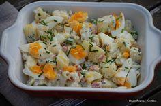 Aardappelsalade 'Matt Preston'. Simpele versie met gebakken spek en romige mosterd-mayodressing. Recept van mijn favoriete - Masterchef Australië - jurylid
