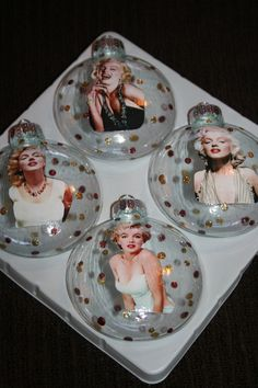 Marilyn Monroe Ornaments, a fun way to sass up your Christmas Tree! :: Marilyn Fan