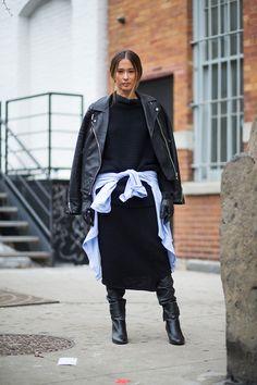 street style, NY Fashion Week, Fall 2015/Winter 2016..