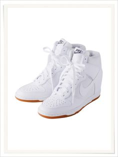 I love these Nike wedge sneakers!!