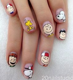 Super ideas for nails gel design life Nail Manicure, Pedicure, Gel Nails, Nexgen Nails Colors, Nail Colors, Cute Nails, Pretty Nails, Snoopy Nails, Fall Nail Art Designs