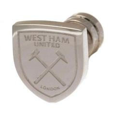Official Licensed Football Product West Ham United Cut out Stud Earring Gift for sale online West Ham United Fc, Football Accessories, Soccer Gifts, Stainless Steel Earrings, Jewelry Shop, Jewelry Watches, The Unit, Stud Earrings, Silver