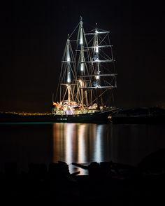 Sail Ship - #corfu #corfuisland  #kerkyraisland #kerkyra #ionio #ionianislands #greece #greeceislands #stylianos_photography  #travel #traveller #travelling #traveling #tourism #tourist #landscape #landscapes #photography #photographer #night #sea #sky #nightsky #nightphotography #stylianosphotography #sail #sailship #port