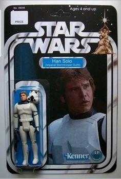 Star Wars Action Figures, Custom Action Figures, Star Wars Art, Star Trek, Figuras Star Wars, Imperial Stormtrooper, Star Wars Han Solo, Long Time Ago, Starwars