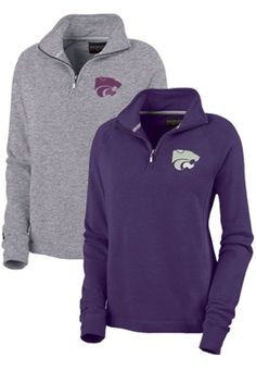 Product: Kansas State University Wildcats Women's 1/4 Zip Chelsea Fleece Pullover