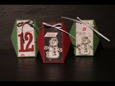 Facettenbox/Adventskalenderidee mit Produkten von Stampin' Up! - YouTube