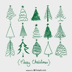 Christmas tree sketches