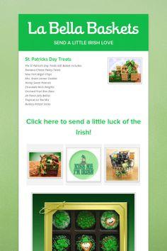 La Bella Baskets~st.pattys day treats http://valsjoyfulbaskets.labellabaskets.com/