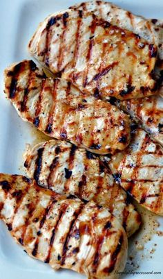 SUMMER GRILLED CHICKEN Honey, tangy, brown sugar, olive oil, Dijon mustard Save some of the marinade!!!! You can add it the next day to sandwiches or to dip. Don't use it all