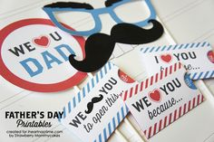 """""""We Love Dad"""" Father's Day Printables from Strawberry Mommycakes"""