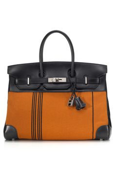 091b9dfa51a Orange and Black Hermes Birkin... Hermes Handbags
