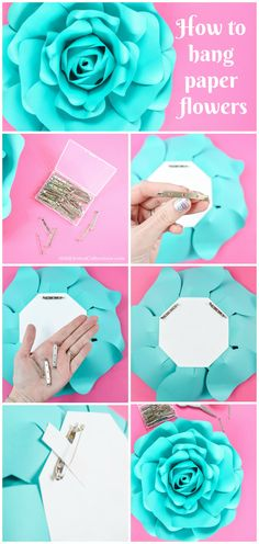 523 best tissuepaper flowers images on pinterest in 2018 paper how to hang paper flowers 8 easy ways to hang paper flowers mightylinksfo