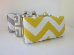 Gray & Yellow: Bridesmaids Clutch
