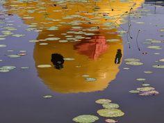 A huge rubber duck floats at Beijing Garden Expo Park.