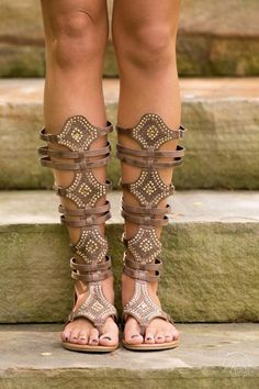Making My Way To You Gladiator Sandal - Brown
