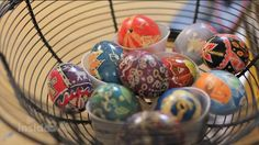 Ukrainian Easter Eggs  - by 7th graders who recently studied the art of pysanky—designing and creating Ukrainian Easter eggs. See how the students' creativity comes alive as they use this European technique to tell a story through art.