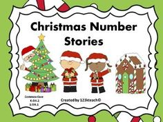 Enjoy the holidays with these #Christmas themed number stories. Students will draw and write equations to solve #addition and #subtraction word problems within 10. #Common Core #K.OA.2  &  #1.OA.1